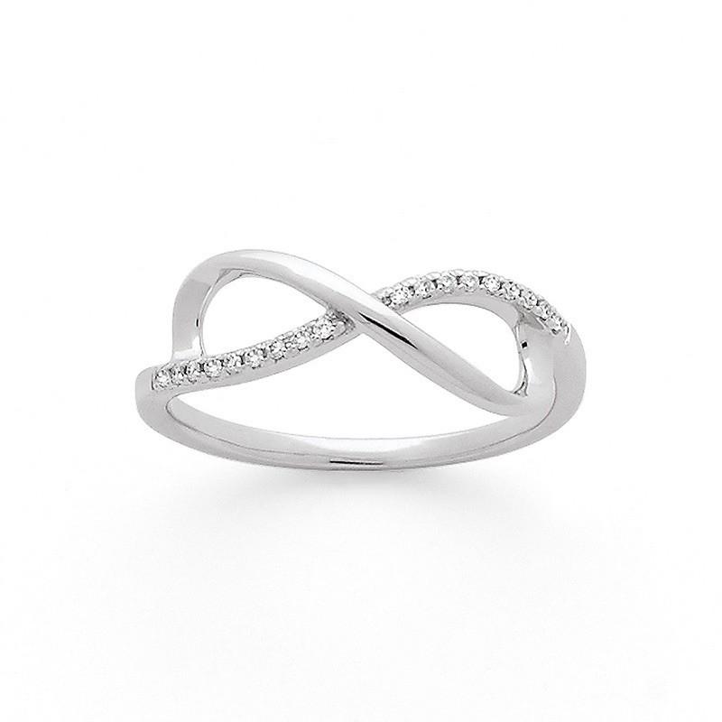 Bague Diamants 0,06 Carat H SI Infinity Or blanc