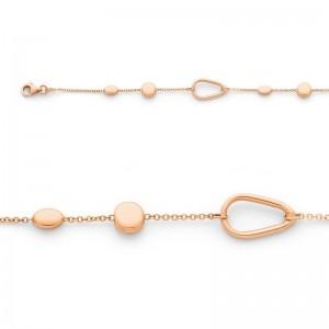 Bracelet maille Forçat motifs Or rose