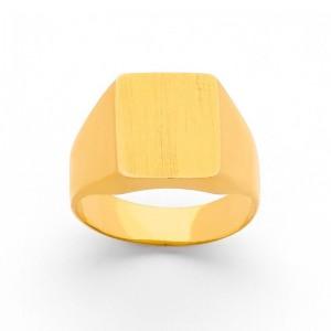 Chevalière Homme carrée massive Or jaune