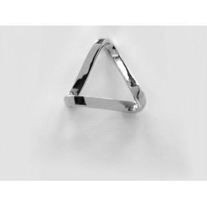 Pendentif symbolique Triangle ruban court Argent