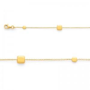 Bracelet maille Petits pavés 4 et 6 mm Or jaune