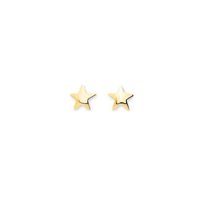 Boucles d'oreilles enfant Etoile Or jaune