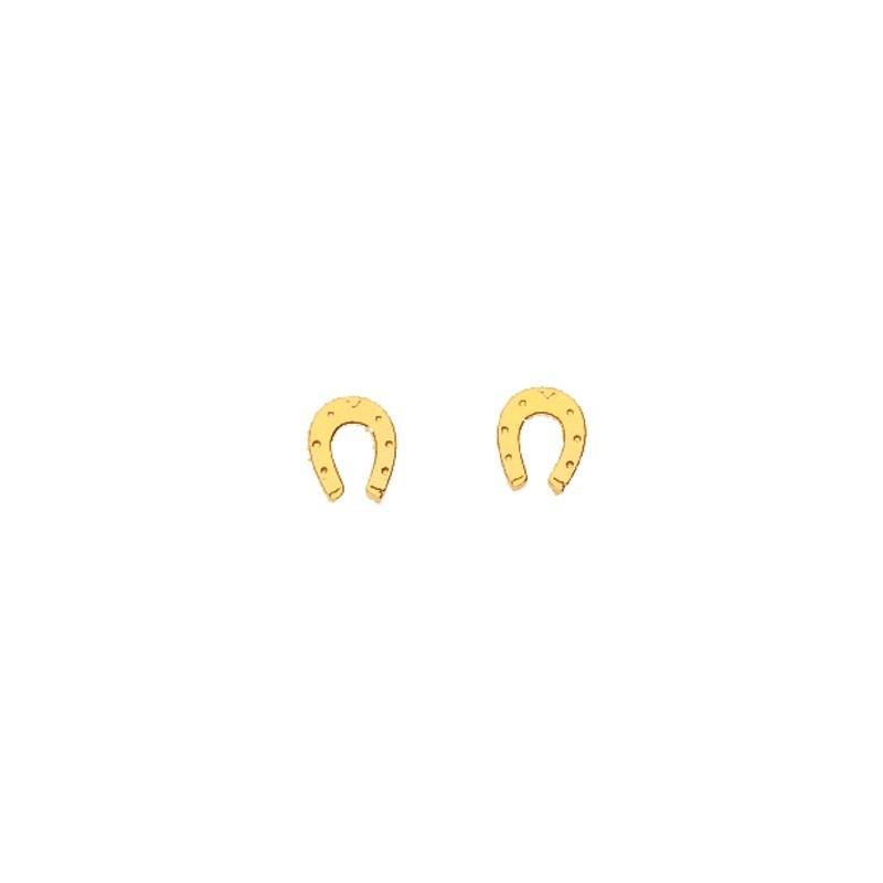 Boucles d'oreilles enfant Fer à cheval Or jaune