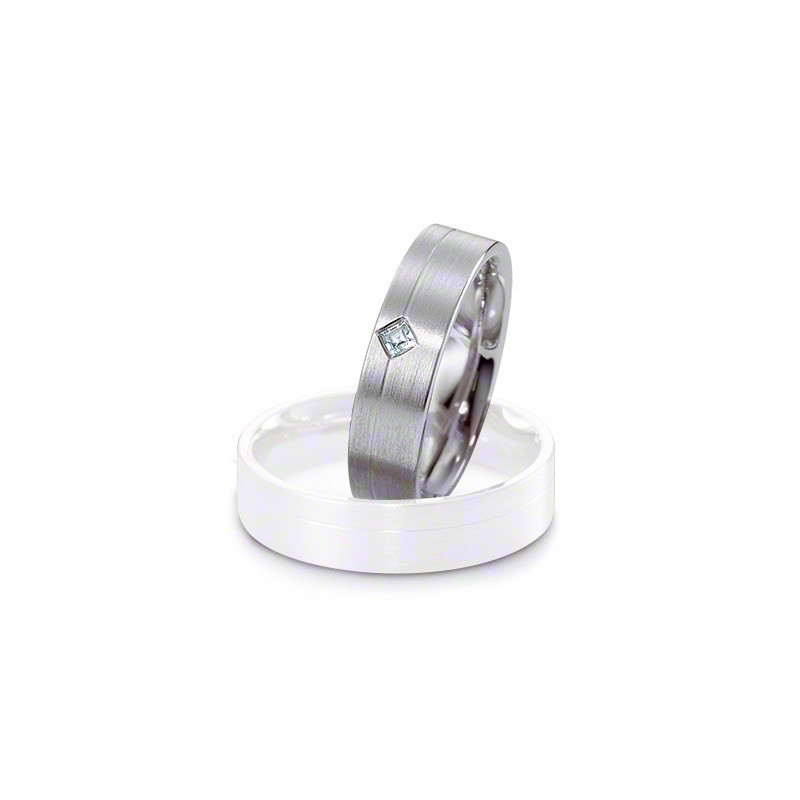 Alliance BREUNING platine moderne mate Softwin 5,5mm 1 Diamant