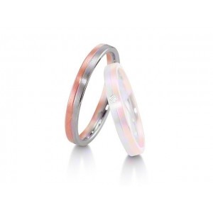 Alliance homme BREUNING Platine & Or rose Softwin