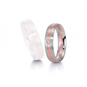 Alliance BREUNING Platine & Or rose Softwin 1 Diamant-1