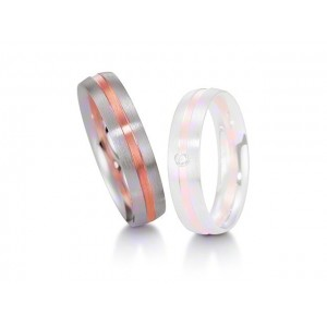 Alliance homme BREUNING Platine & Or rose Softwin-1