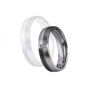 Alliance Saint MAURICE NightLine 5 mm - OR Blanc & NOIR - 2 diamants