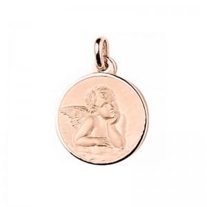 Médaille Ange de Raphaël 18mm Or rose