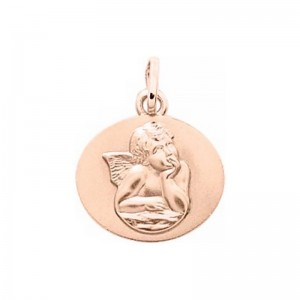 Médaille Ange 13mm Or rose