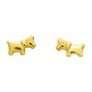 Boucles d'oreilles chiens Or jaune