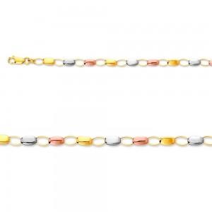 Bracelet maille petits cailloux 3 ors
