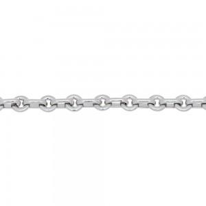 Bracelet maille Lentilles massif Or blanc