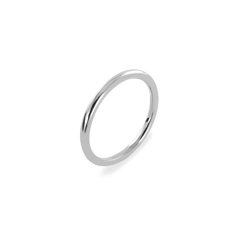 Alliance PONCE Fil Rond 2 mm Or blanc