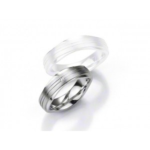 Alliance BREUNING Argent & Diamant 6,5mm