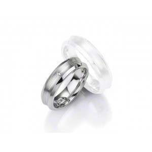 Alliance BREUNING Argent & Diamant 6 mm