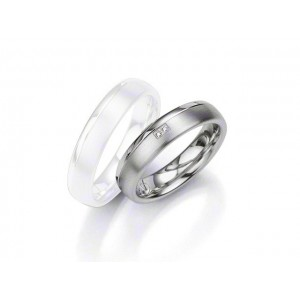 Alliance BREUNING Argent & Diamant 5 mm-1