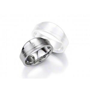 Alliance BREUNING Argent & Diamant 8 mm