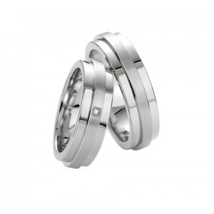 Alliance BREUNING Argent & Diamant 6,5mm-2