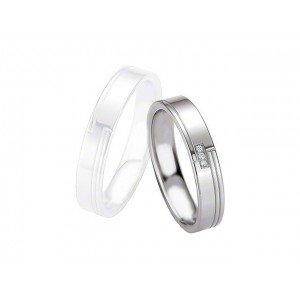 Alliance BREUNING Argent & Diamants 4,5mm