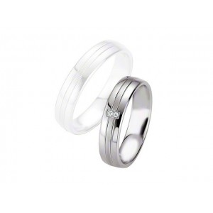 Alliance BREUNING Argent & Diamants 5 mm