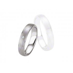 Alliance BREUNING Argent & Diamant 4,5mm-1