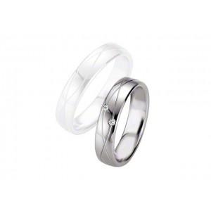 Alliance BREUNING Argent & Diamants 5 mm-1