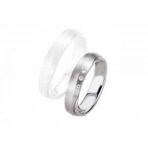 Alliance BREUNING Argent & Diamants 4,5mm-3