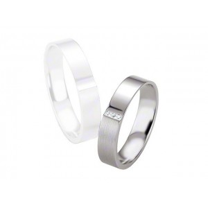 Alliance BREUNING Argent & Diamants 4,5mm-4