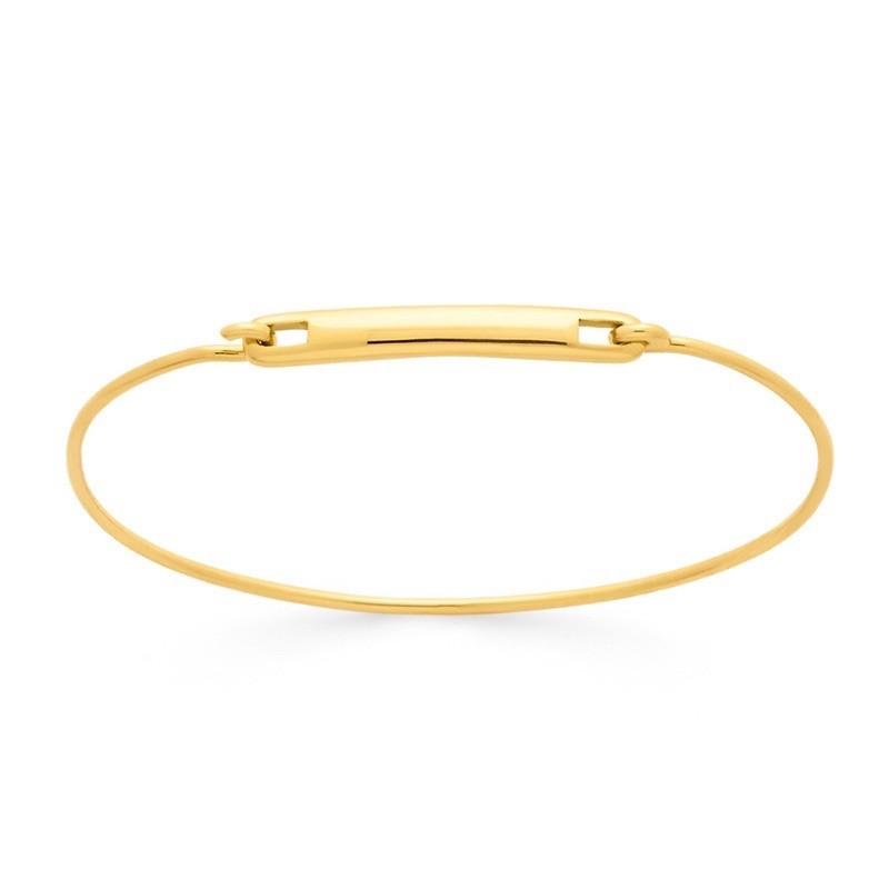 Bracelet identité bébé 4mm rigide fil rond 1,2mm Or jaune