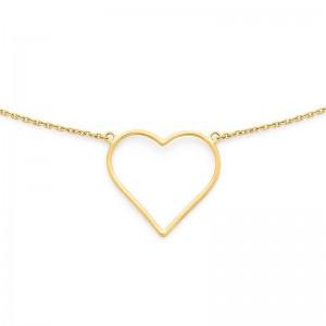 Collier avec motif cœur sur chaine Or jaune