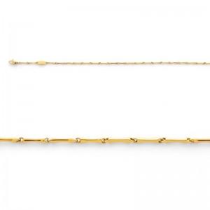 Bracelet maille Bambou 1,5mm Or jaune