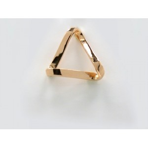 Pendentif symbolique Triangle ruban court Or jaune