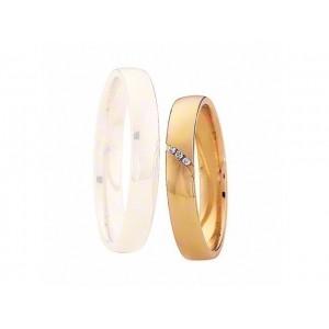 Alliance Saint MAURICE Light 3,5mm - OR Jaune - 3 diamants