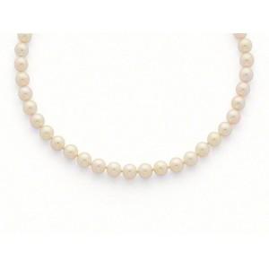 Collier perles de culture choker Akoya Japon 6,5-7 mm-4