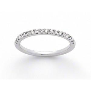 Alliance Diamants 1/2 tour Platine 0,22ct Serti 4 griffes