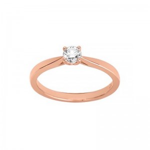 Solitaire Diamant synthétique 0,30 Carat Or rose