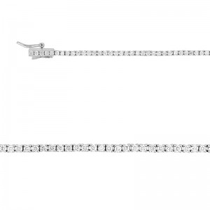 Bracelet Diamants synthétiques 1 Carat Or blanc