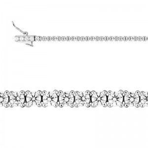 Bracelet Diamants synthétiques 2 Carat Or blanc