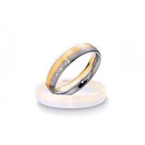 Alliance BREUNING BASIC 4,5mm - OR Blanc & Jaune - 3 diamants