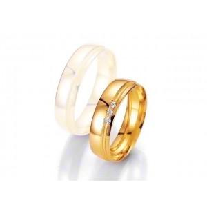 Alliance BREUNING SMARTLINE 5,5mm - OR Jaune - 3 diamants