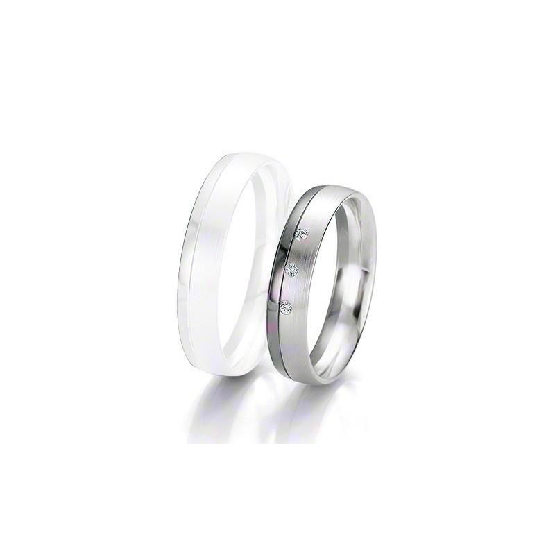 Alliance BREUNING BLACK & WHITE 4,5mm - OR Blanc & NOIR - 3 diamants