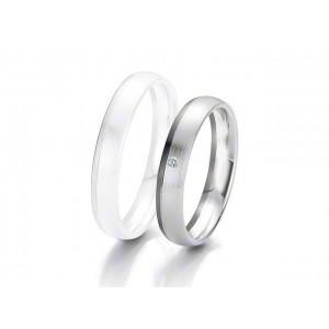 Alliance BREUNING BLACK & WHITE 4 mm - OR Blanc & NOIR - 1 Diamant