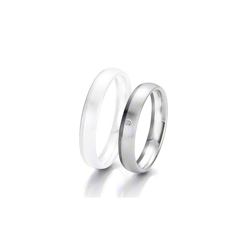 Alliance BREUNING BLACK & WHITE 4 mm - OR Blanc & NOIR - 1 Diamant
