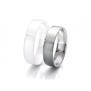 Alliance BREUNING BLACK & WHITE 5,5mm - OR Blanc & NOIR - 3 diamants