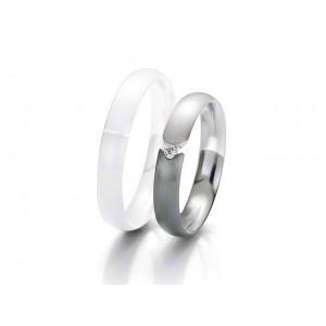 Alliance BREUNING BLACK & WHITE 4 mm - OR Blanc & NOIR - 1 Diamant-1