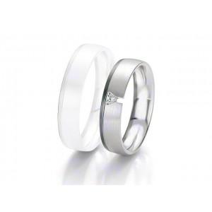 Alliance BREUNING BLACK & WHITE 5 mm - OR Blanc & NOIR - 1 Diamant