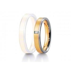 Alliance BREUNING INSPIRATION 4 mm - OR Blanc & Jaune - 1 Diamant