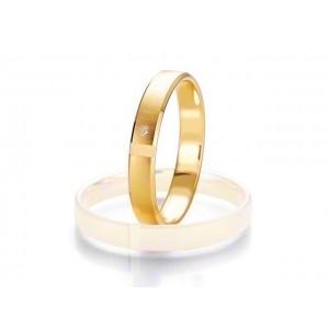 Alliance BREUNING SMARTLINE SLIM 3,5mm - OR Jaune - 1 diamant
