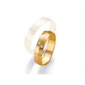 Alliance BREUNING SMARTLINE SLIM 4,5mm - OR Jaune - 2 diamants